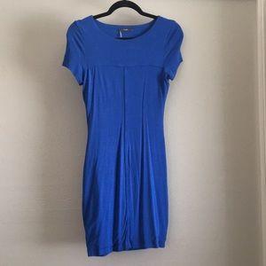 Form Fitting Royal Blue Dress w/ keyhole back